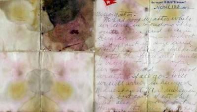 ٹائی ٹینک کے مسافر کی جیب سے ملنے والاخط ایک کروڑ 66 لاکھ روپے میں نیلام