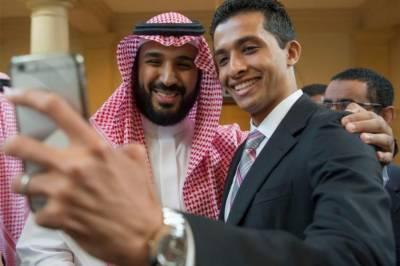 شہزادہ محمد بن سلمان کی خوش مزاجی، عام لوگوں کیساتھ سیلفی بنوائی