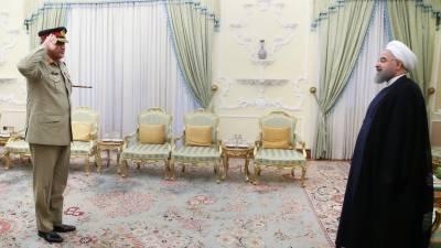 آرمی چیف کی ایرانی صدر سے ملاقات, باہمی تعاون پر زور دیا