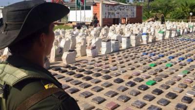 کولمبیا میں تاریخی آپریشن, 12 ہزار کلو کوکین پکڑی گئی