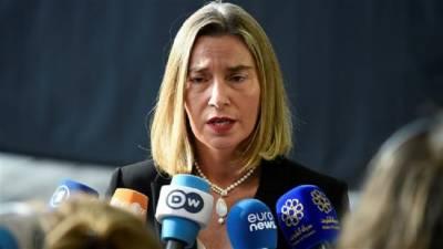 امریکی دھمکیوں کے باوجود ایران کے ایٹمی معاہدے کا مکمل تحفظ کیا جائے گا: موگرینی