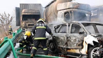 چین میں متعدد گاڑیاں آپس میں ٹکراگئیں، 18 افراد ہلاک