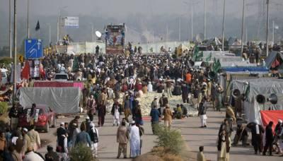 اسلام آباد دھرنا 16 ویں روز میں داخل ، شہریوں کی مشکلات کم نہ ہو سکیں