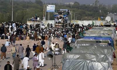 اسلام آباد دھرنا ختم کرانے کے معاملے پر فریقین کا معاہدے کے ڈرافٹ پر اتفاق