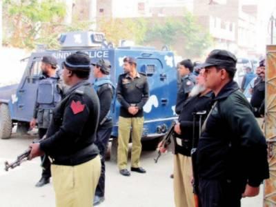 سکھر پولیس کا شہر کے مختلف علاقوں میں سرچ آپریشن