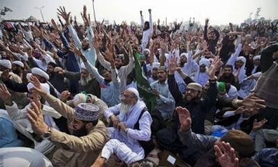 فیض آباد انٹر چینج دھرنا ,حکومت نے کھانے پینے کے اسٹال بند کرا دیے