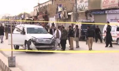 کوئٹہ، سیکیورٹی فورسز کی گاڑی پر خودکش حملہ، 4 افراد شہید