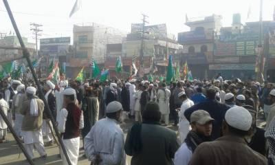 کراچی سٹار گیٹ دھرنے میں 22زخمی ہسپتال منتقل