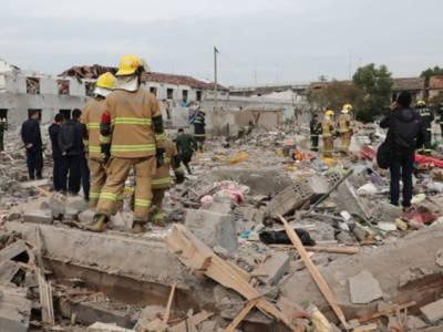 چین میں دھماکے سے عمارتیں گرگئیں
