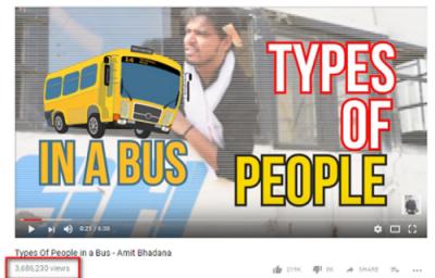 ایک دن میں 3.5ملین ویوز حاصل کرنے والی ویڈیو