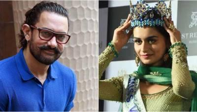 """""""مس ورلڈ"""" منوشی چہلر کی عامر خان کے ساتھ کام کرنے کی خواہش"""