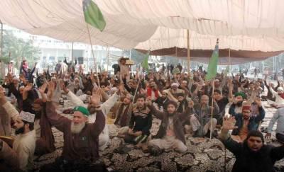 لاہور: مال روڈ پر دھرنا پانچویں روز بھی جاری