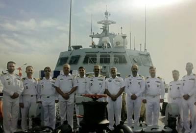 پاک بحریہ کے جہازوں کا ایران کی بندرگاہ کا دورہ