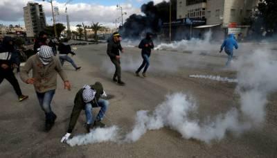 امریکی اقدام کیخلاف مظاہرے، اسرائیلی شیلنگ سے 50 سے زائد فلسطینی زخمی