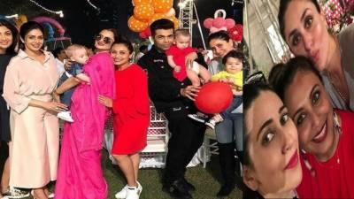 رانی مکھر جی کی بیٹی کی سالگرہ پر ریکھا نے اپنے سٹائل سے سب کو حیران کر دیا