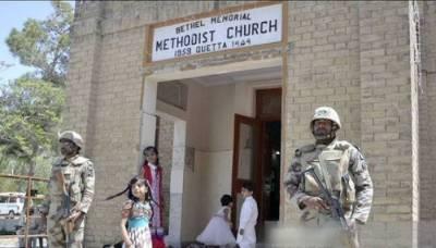 کوئٹہ چرچ پر خودکش بمباروں کا حملہ،8 افراد جاں بحق،45 زخمی