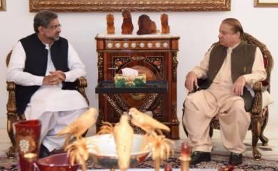 فاٹا اصلاحات پر مشورے کیلئے وزیراعظم شاہد خاقان عباسی نواز شریف کے پاس پہنچ گئے