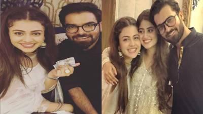معروف پاکستانی اداکارہ زارا نور عباس اور اسد صدیقی کےسنگیت کی تصاویر وائرل