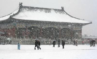 چین میں برفباری، برفانی طوفان سے 10 افراد ہلاک