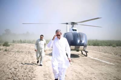 جہانگیر ترین کے ہیلی کاپٹر کی ہنگامی لینڈنگ