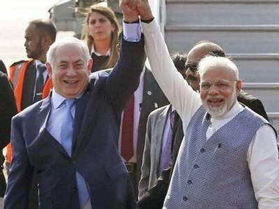 اسرائیلی وزیراعظم کا بھارت میں والہانہ استقبال