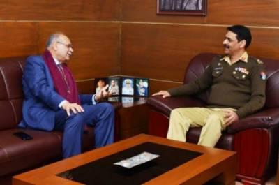 ڈی جی آئی ایس پی آر سے نجم سیٹھی کی ملاقات