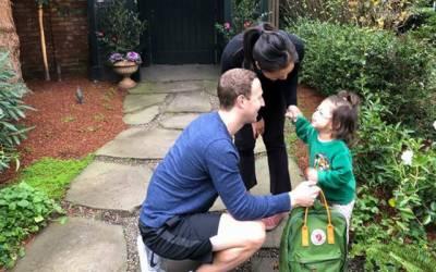 فیس بک کے بانی مارک زکر برگ کی بیٹی کے سکول کا پہلا دن سوشل میڈیا پر وائرل