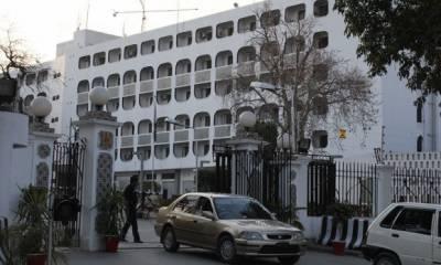 بھارتی جارحیت پر بھارتی ڈپٹی ہائی کمشنر کی دفتر خارجہ طلبی