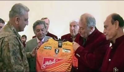 آرمی چیف کی ورلڈ الیون ہاکی پلیئرزاور پاکستانی لیجنڈز سے ملاقات