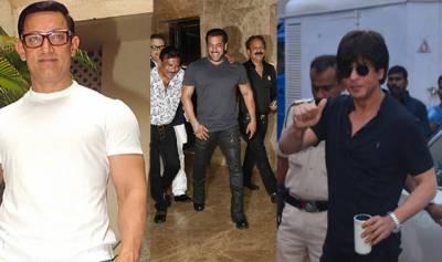 بالی وڈ کے تینوں خان ایک جگہ شوٹنگ میں مصروف