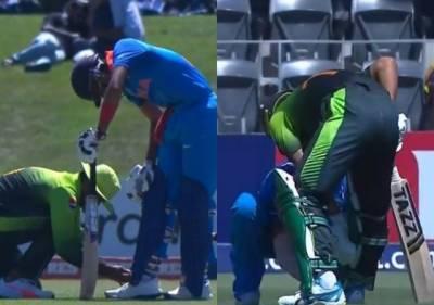 پاک بھارت میچ میں پاکستانی اور بھارتی کھلاڑی کی تصویر نے کروڑوں شائقین کے دل جیت لیے