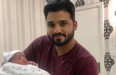 کرکٹر اظہر علی نے نومولود بیٹے کی تصاویر سوشل میڈیا پر شیئر کردی