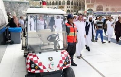 مسجد الحرام میں مریضوں اور معر افراد کے لیے گالف گاڑیاں