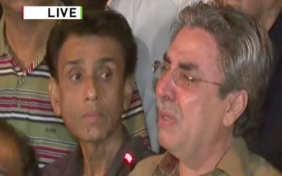 متحدہ پاکستان رابطہ کمیٹی کی پریس کانفرنس میں آنسوئوں کی جھلک