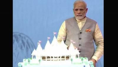بھارتی وزیراعظم نے ابوظہبی میں پہلے مندر کا سنگ بنیاد رکھ دیا