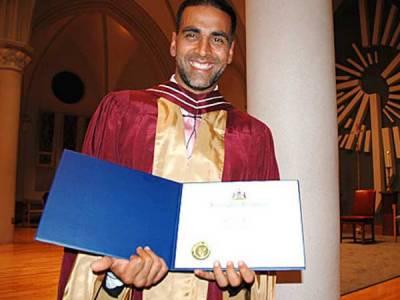 اکشے کمار کا نامکمل تعلیم کے باوجود ڈاکٹر بننے کا انکشاف