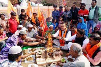 ہندو انتہاپسند تنظیم نے مسلم خاندان کا زبردستی مذہب تبدیل کرادیا