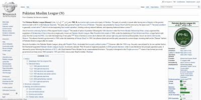 نواز شریف کی نااہلی کے بعد وکی پیڈیا نے بھی (ن) لیگ کی کرسی صدارت کو خالی قرار دیدیا