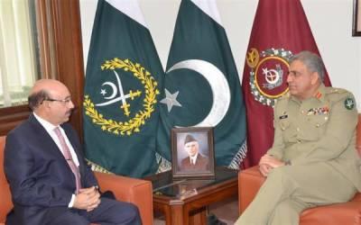 آرمی چیف سے صدر آزاد کشمیر کی ملاقات ، تحمل کی پالیسی برقرار رکھنے پر اتفاق