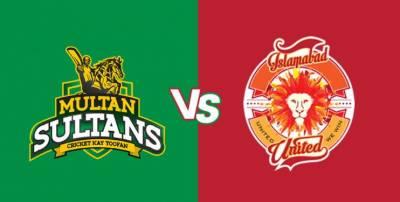 پاکستان سپر لیگ میں آج ملتان سلطانز اور اسلام آباد یونائیٹڈ کا مقابلہ ہو گا