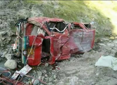 جہلم وادی میں جیپ گہری کھائی میں گرنے سے 9 افراد جاں بحق،6 زخمی