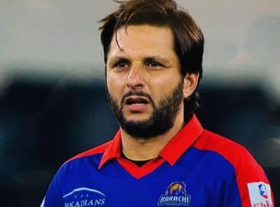 کراچی کنگز کے مداحوں کیلئے بری خبر،شاہد آفریدی آج پشاور زلمی کیخلاف میچ نہیں کھیل سکیں گے