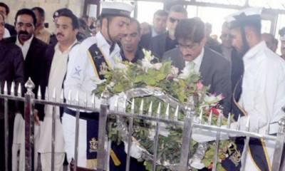 یوم پاکستان، مزار قائد پر گورنر سندھ، وزیر اعلیٰ اور میئر کراچی نے حاضری دی