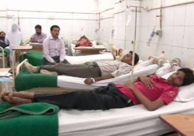 ملتان میں گیسٹرو کی وباءپھیل گئی،24 گھنٹے میں 185 مریض ہسپتال منتقل