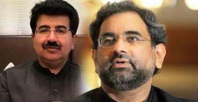 وزیراعظم شاہد خاقان عباسی نے چیئرمین سینیٹ سے ملنے سے معذرت کر لی
