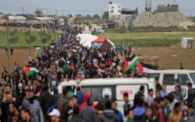 غزہ میں اسرائیلی فائرنگ کے باعث پانچ افراد ہلاک اور 350 زخمی ہوئے ہیں