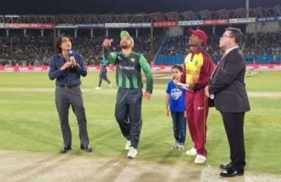 پہلا ٹی ٹونٹی ، ویسٹ انڈیز کا پاکستان کیخلاف ٹاس جیت کر فیلڈنگ کا فیصلہ