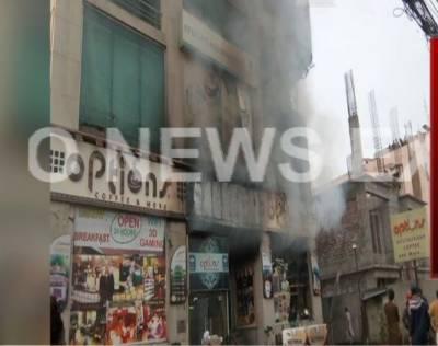 لاہور :برکت مارکیٹ میں بیکر ی میں آگ لگنے سے 5 افراد جاں بحق