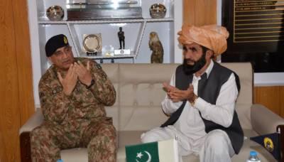 آرمی چیف کا دورہ جنوبی وزیرستان ، اہم منصوبوں کا افتتاح ، نقیب اللہ محسود کےوالد سے ملاقات