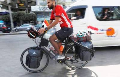 فیفا ورلڈ کپ ،مصری شہری میچ دیکھنے کے لیے سائیکل پر ہزاروں میل کا سفر کریگا